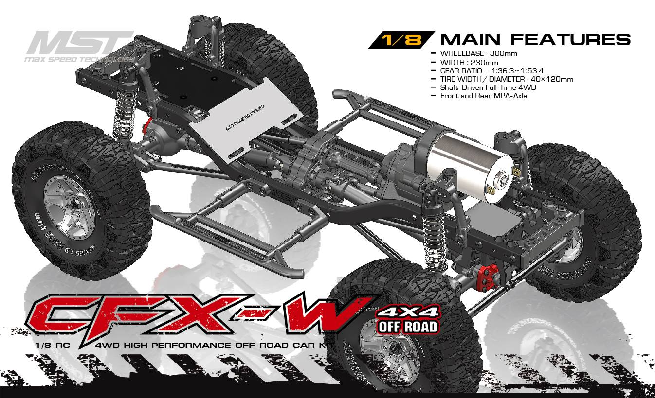 MST Releases 1/10 CFX and 1/ 8 CFX-W RC Crawlers - AsiaTees com