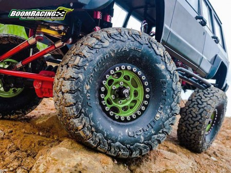 Boom Racing KRAIT 1.9 Beadlock Wheels Green Edition