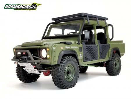 Boom Racing X Knight Customs Defender D110 KHAN Military Pickup