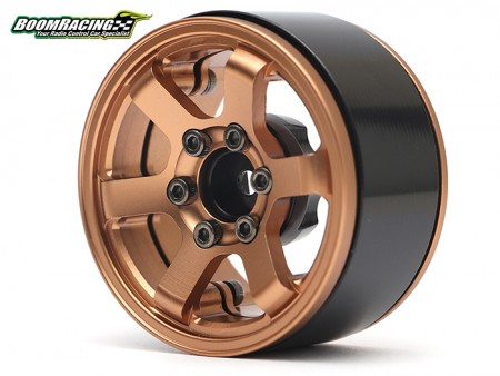 Boom Racing 1.9 TE37 KRAIT Beadlock Wheels w/ XT6 Hubs