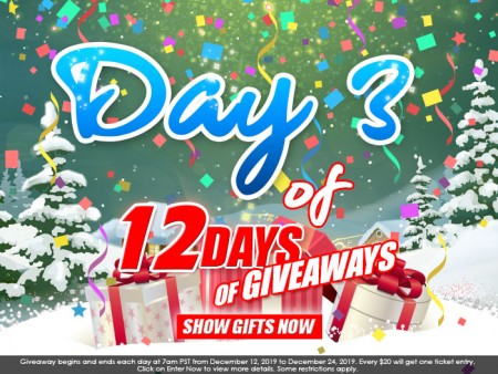 Day 3 of 12 Days of Giveaways