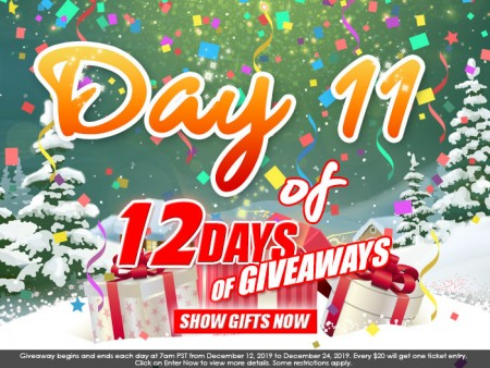 Day 11 of 12 Days of Giveaways