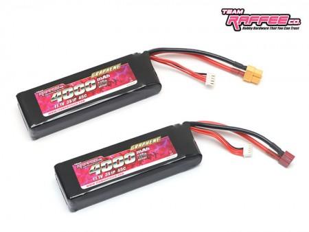TRC 11.1V 3S 4000mAh 45C Graphene Low-Profile Lipo Batteries