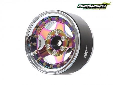 Boom Racing ProBuild 1.9 SV5 Neo Chrome Beadlock Wheels