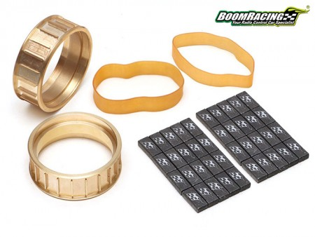 Boom Racing ProBuild™ Brass Center Ring W/ Lead Weight Set