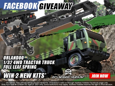 [GIVEAWAY] Giving 2x Orlandoo 1/32 4WD Tractor Truck Kit