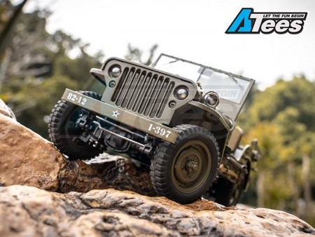 ROC Hobby 1/12 MB Willys US Army Truck Ready-To-Run