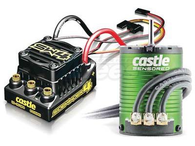 Castle Creations Sidewinder 4 WP Sensorless ESC On Road Edition W/1406-7700  Sensor Ready Motor