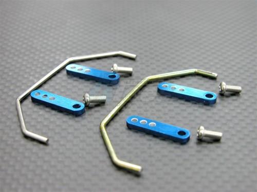 Aluminum Front+Rear Blue Bumper Fits Team Losi Mini LST