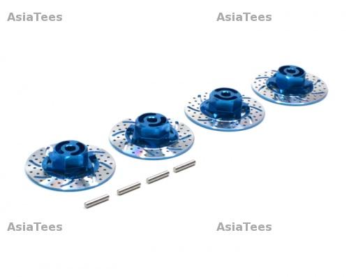 3Pcs Set Blue GPM Tamiya TT-01 Upgrade Parts Aluminium Completed Tie Rod with Screws
