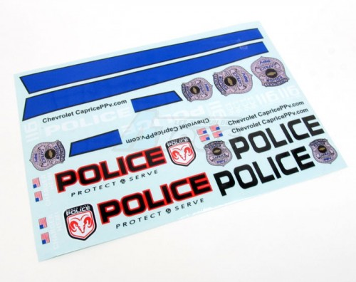 Matrixline Rc Decal Sheet For Police Car Mr T037