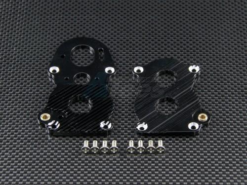 GPM TRU018SC-BK ALLOY GEAR BOX HEATSINK PLATE FINS FIT FOR TAMIYA TRACTOR SCANIA