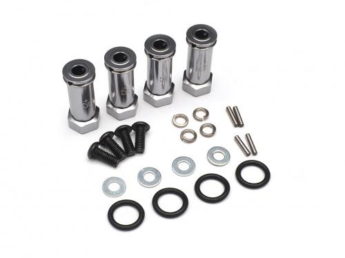 Traxxas Slash 4X4 Aluminum Hex Adaptor (+25mm) 4 Pieces Set Gun Metal