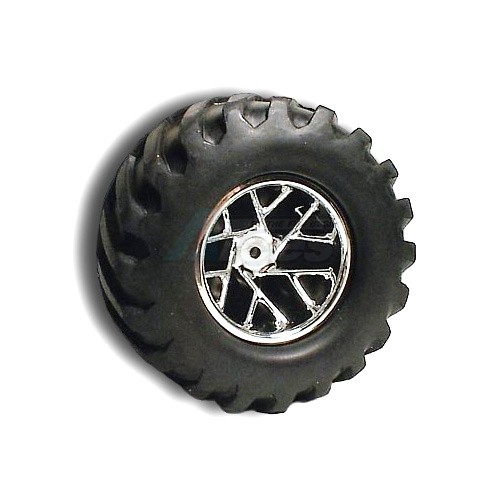 Team Losi XXX-T Slingshot Truck Wheel Losi Xxtxxx-t & Nxt Rearchrome ~tires  not included~