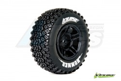 '' 'Slash' 'Louise 1/10 SC-HUMMER Performance Short Course Tire Soft / Black Rim (Front) / Mounted'