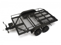'' 'All' '1/10 Scale Aluminum Dual Axle Trailer For Scale Trucks & Crawlers W/ Leaf Spring'