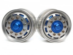 '' 'All' '1/14 Tractor Trucks Front Wide Wheels (2 pcs) Version E Blue'