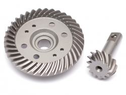 '' 'Slash 4X4' 'Front Steel Heavy Duty Helical Spiral Differential Ring & Pinion Gear (37T/13T) for All Traxxas 4WD 4X4'