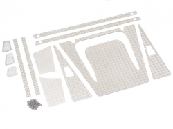 '' 'All' 'Stainless Steel Diamond Plate Accessories Pack for Defender Wagon D90/D110 Silver'