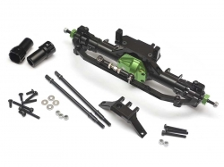 '' 'SCX10' 'CNC Machined Complete Assembled Aluminum Convertible Front or Rear Axle Green'