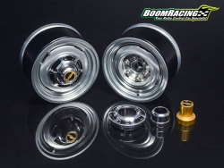 '' 'All' '1.55 Yota LC Classic Front Beadlock Wheels (2) with 3mm Wideners (2) Gun Metal'