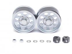 '' 'All' '1.55 Terra Classic 8-Hole Aluminum Beadlock Wheels w/ 3mm Wideners (2) Gun Metal'