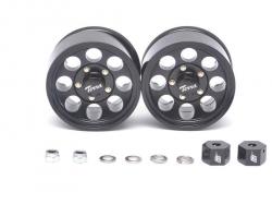 MiscellaneousAll1.55 Terra Classic 8-Hole Aluminum Beadlock Wheels w/ 3mm Wideners (2) Black