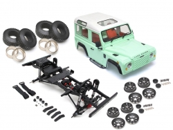 MiscellaneousAll1/10 ARTR Assembled D90 Chassis w/ TRC Raffee Defender D90 2-Door Hard Body