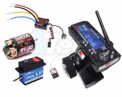 '' 'All' 'Electronic Package Combo Set A for RC Cars (Radio Waterproof Motor ESC & Servo)'