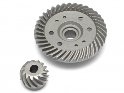 '' 'Slash 4X4' 'Rear Heavy Duty Steel Helical Spiral Differential Ring & Pinion Gear (37T/13T) for All Traxxas 4WD 4X4'