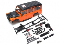 MiscellaneousAll1/10 D110 Chassis Kit (Without Wheels Tires Shocks) w/ TRC Raffee Defender D110 Station Wagon Hard Body