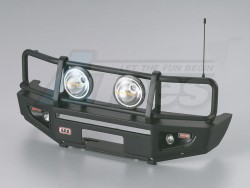 MiscellaneousAllARB 1/10 Aluminum Bull Bar Bumper w/ LED Light Upgrade Set Matt-Black for 1/10 LC70 Truck SUV Bullbar