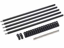 '' 'All' 'DIY Aluminum Link Set w/ Rod Ends (M4 All Thread) for Crawlers 5pcs'