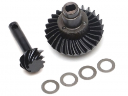 '' 'SCX10 II' 'Heavy Duty Keyed Bevel Helical Overdrive Gear 27/8T + Differential Locker Set for AR44 Axle'