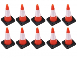 '' 'All' 'Rubber Traffic Cone w/ Reflective Decal (10) for Trail Marker Orange'