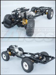 RCRUNRUN-801:10 Scale LC80 Metal Chassis Frame Builders Kit
