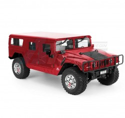 TRASPEDHG-P4151/10 GM Hummer H1 4x4 2.4G w/ LED Light & Engine Sound Module ARTR (Officially Licensed) Red
