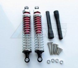GPM Racing Team Associated RC10GT2 105MM Aluminum Adjustable Shocks 1PR for Competition Red (Silver Springs)