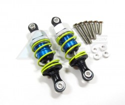 GPM Racing Miscellaneous All 55mm Aluminum Adjustable Shocks 1 Pair For Competition Blue (Yellow Springs)