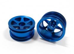 TEAM LOSI MINI-T  GPM FRONT NARROW FLAT BLUE ALUMINUM RIMS SMT0402F