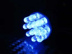 Boom Racing Miscellaneous All Super Bright LED Round Light Set Blue