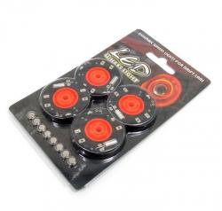 Boom Racing Miscellaneous All LED Wheel Lights For RC Drift Car (4pcs) Orange