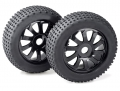 Miscellaneous All 1/8 Wheel Set Buggy (razor) 10 Spokes/dirt Black (2 Pcs) by Team C