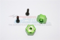 Traxxas LaTrax SST 1/18 Scale 4WD Stadium Super Truck Aluminum Hex Adapter+3MM Green by GPM Racing