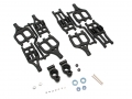 Traxxas E-Maxx Madmax Complete Strong Arm Set With Bearing And Axles Black by MadMax