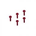 Tamiya Mini 4WD M2 x 10 Scoket Buttom Screw (Red) by 3Racing