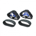 Team Raffee Co. Axial SCX10 Snow Sand Caterpillar Set For Crawler 1 Pair Blue