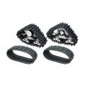 Team Raffee Co. Axial SCX10 Snow Sand Caterpillar Set For Crawler 1 Pair Black