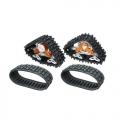 Team Raffee Co. Axial SCX10 Snow Sand Caterpillar Set For Crawler 1 Pair Orange
