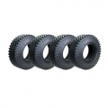 Axial SCX10 1.9 Crawler Tire 1.2 Inch Wide For Defender D90 D110 TF2 SCX10 (4) Black V2 by Team Raffee Co.